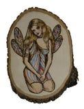 Fairy su legno Fotografia Stock