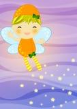 Fairy su priorità bassa astratta Fotografia Stock