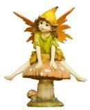 Fairy sul fungo Fotografia Stock