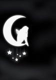 Fairy sulla luna Fotografie Stock