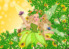 Fairy on summer time Royalty Free Stock Photos