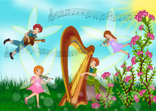 Fairy on summer time. In the jungle illustrations Royalty Free Stock Photos