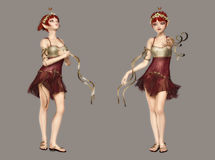 Fairy sveglio Fotografie Stock Libere da Diritti