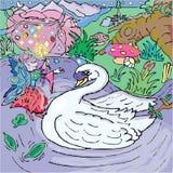 Fairy and swan Stock Photos
