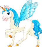 Fairy Tail Blue Horse Stock Image