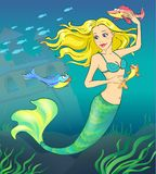 Fairy tale 1. Mermaid. Stock Photo