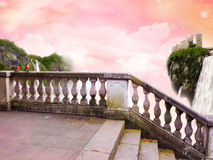 In Fairy Tale. The beautiful Poster In Fairy Tale with fanastic Sky stock photography