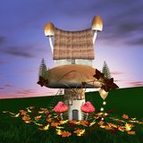 Fairy tale. A wonderful mushrooms palace, a very original building Royalty Free Stock Images