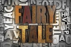 Fairy Tale. The words FAIRY TALE written in vintage letterpress type Stock Photos