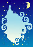 Fairy tale abstract night sky Stock Image