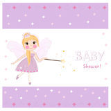 Fairy tale baby shower greeting card Royalty Free Stock Images