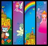 Fairy-tale banners. Stock Photos