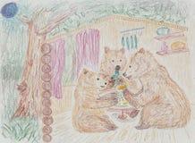 Fairy tale about bear Stock Photos