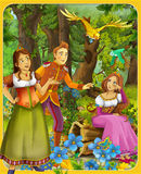 The fairy tale - beautiful Manga style - illustration for the children Royalty Free Stock Image