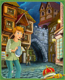The fairy tale - beautiful Manga style - illustration for the children Royalty Free Stock Images