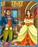 The fairy tale - beautiful Manga style - illustration for the children stock illustration