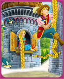 The fairy tale - beautiful Manga style - illustration for the children Royalty Free Stock Photos