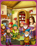 The fairy tale - beautiful Manga style - illustration for the children Stock Images