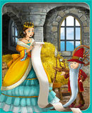 The fairy tale - beautiful Manga style - illustration for the children Royalty Free Stock Photo