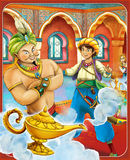 The fairy tale - beautiful Manga style - illustration for the children Royalty Free Stock Photography