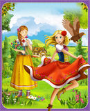 The fairy tale - beautiful Manga style - illustration for the children Stock Photography