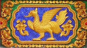 Fairy tale bird in traditional thai style art Stock Image