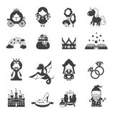 Fairy Tale Black Set Royalty Free Stock Images