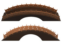 Fairy Tale Bridge Front Top View Set_Raster Stock Photos