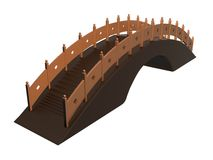 Fairy Tale Bridge_Raster. Raster of fairy tale bridge Stock Photography