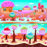 Fairy Tale Candy Land Compositions vector illustration