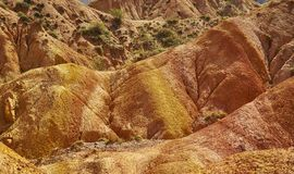 Fairy Tale Canyon, Kyrgyzstan. Fairy Tale Canyon, rock formations on the Issyk-Kul lake. Kyrgyzstan.Central Asia royalty free stock photos