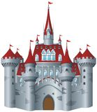 Fairy-tale castle. On white background Royalty Free Stock Photo