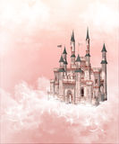 Fairy tale castle. A pink and white romantic fairy tale castle Stock Photo