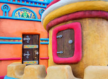 Fairy-tale castle. Fairy-tale colorful castle with small window and door Stock Photo