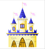 Fairy-tale castle. A vector illustration of fairy-tale castle on the white background Royalty Free Stock Photos