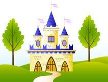 Fairy-tale castle. A vector illustration of fairy-tale castle Stock Photo