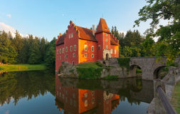 Fairy tale castle Cervena lhota Stock Images