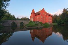 Fairy tale castle Cervena lhota Stock Photo