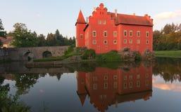Fairy tale castle Cervena lhota Royalty Free Stock Image