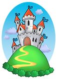 Fairy tale castle with clouds Royalty Free Stock Photo