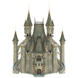 Fairy Tale Castle. 3D digital render of a fairy tale castle isolated on white background Royalty Free Stock Images