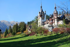 Fairy-tale castle in a mountain landscape Stock Photography