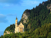 Fairy-tale castle in mountain landscape Stock Photo
