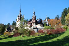 Fairy-tale castle (Peles, Sinaia, Romania) Stock Photography