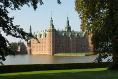 Fairy tale castle. Romantic Frederiksborg Palace in Hillerød Stock Images
