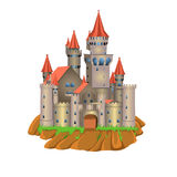 Fairy tale castle. Vector fairytale castle isolated on a white background Stock Photos