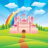 Fairy tale castle vector illustration Royalty Free Stock Photo