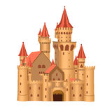 Fairy tale castle. Vector illustration of a fairytale castle isolated on a white background Royalty Free Stock Photography