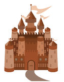 Fairy-tale castle on white background. Vector Royalty Free Stock Images
