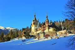 Fairy-tale castle in the winter Stock Image